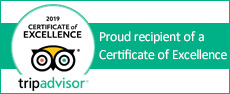 trip advisor Proud recipient of a Certificate of Excellence